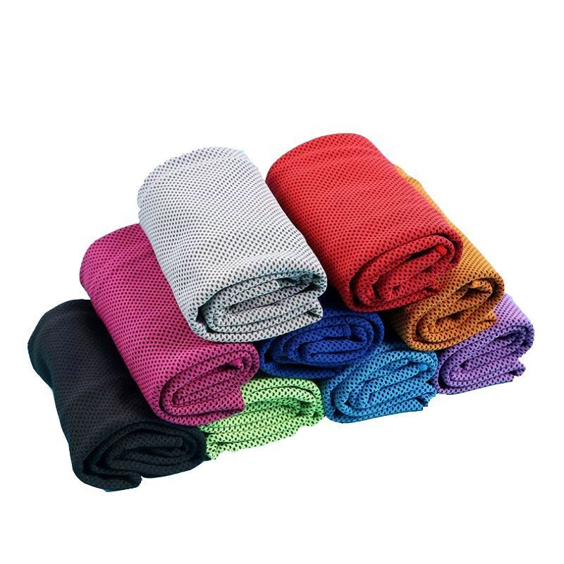 Summer customized Pure color Adult dry quickly towel cool microfiber absorbing sweat Gym sport towels