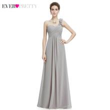 Платья подружки невесты размера плюс Ever Pretty EP09768, цветочные платья на одно плечо, трапециевидные шифоновые платья с оборками для свадебной в...(China)