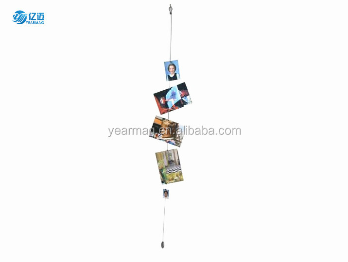 Promotional Gifts Vertically Displaying Magnetic Photo Holder Wire for Wedding Souvenirs