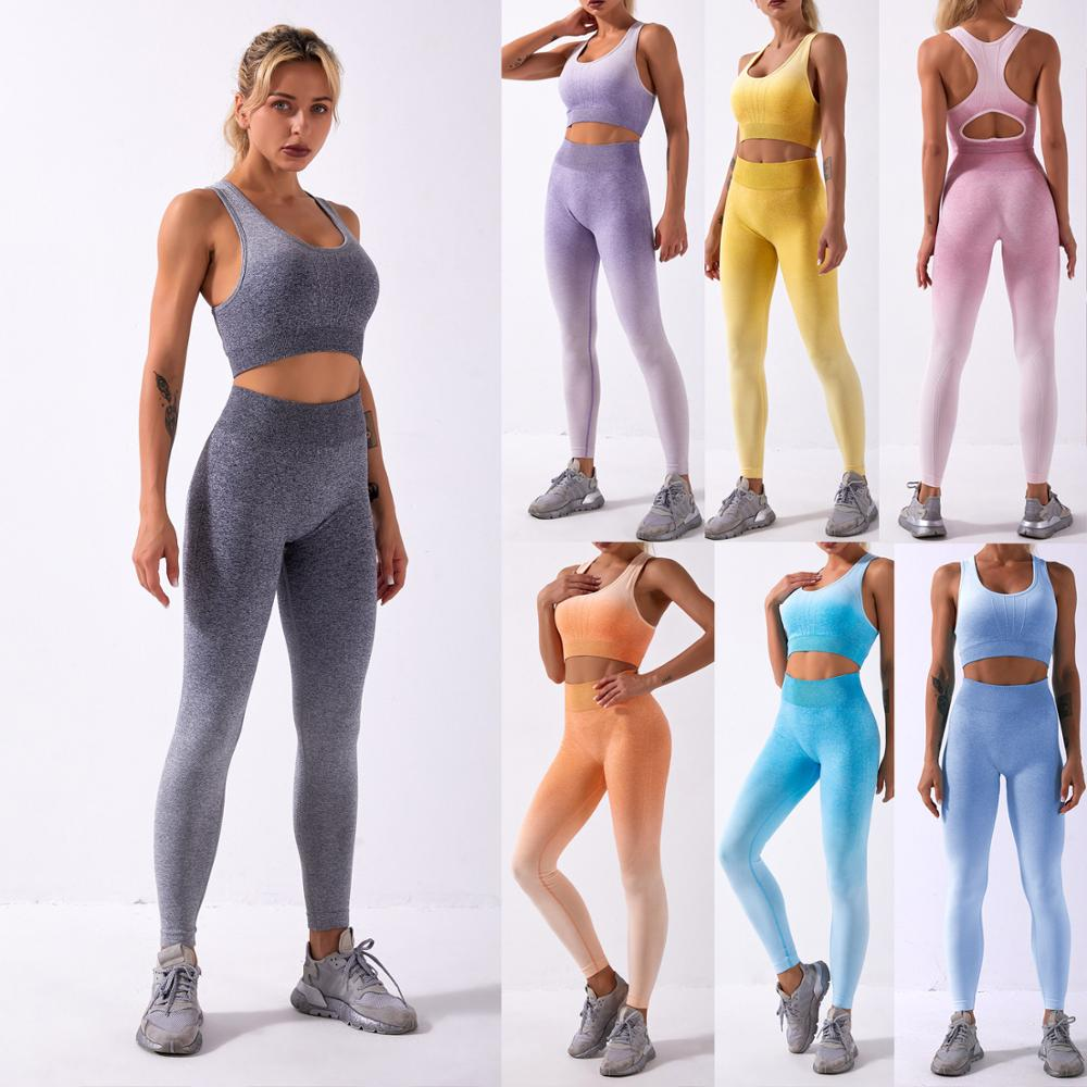 Wholesale Women Sports Bra With Gym Legging Sportswear Workout Outfit Fitness Gym Suit Seamless Sport Sets