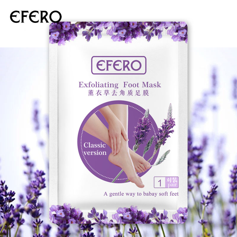 EFERO 1Pair Feet Mask Spa Socks For Pedicure Foot Cream For Heels Exfoliating Foot Mask Socks Mask For Legs Beauty Foot Care