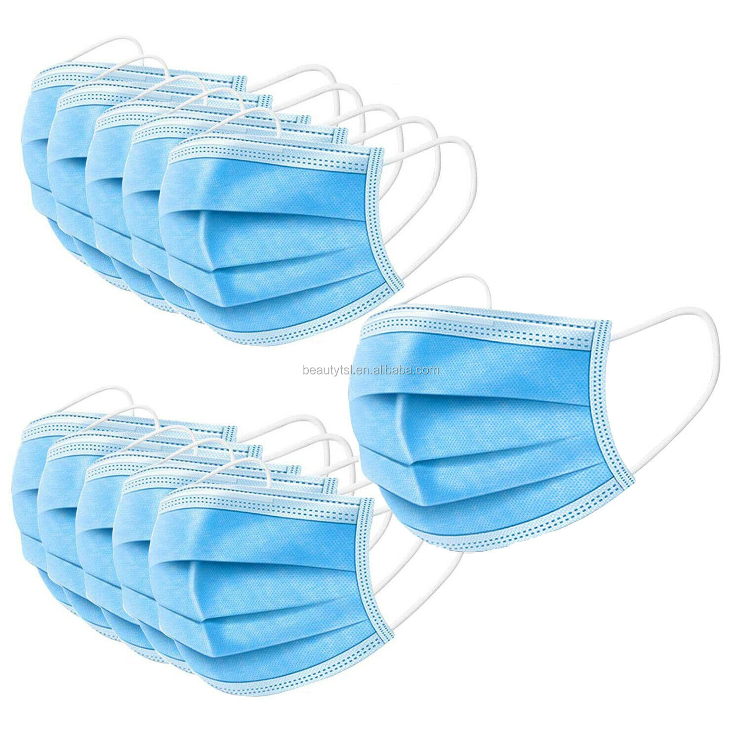face mask 09 3Layers Dustproof Disposable Personal Protective Face Mask with Earloop Non Woven In Stock