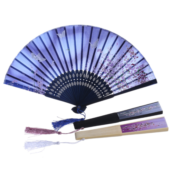 Hand <strong>Chinese</strong> Style New Woodiness Much Design Multicolor Light Wedding Gift Supply Folding <strong>Fan</strong>