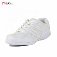 JW Factory comfortable cheerleading dance sneaker training footwear white cheer shoes