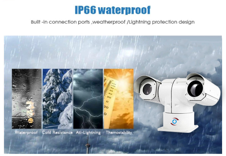 640X512 Thermal Imaging 6.8-370mm 48X Zoom Network Camera Mobile Hybrid Pan Tilt camera