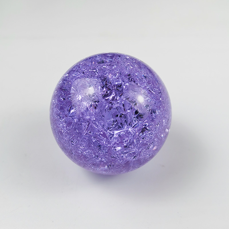 DILU Colorful Purple 60mm 80mm K9 Crystal Ball Ice Crack Balls /K9 Solid Christmas Crystal Ball /Clear Glass Sphere Crystal Ball