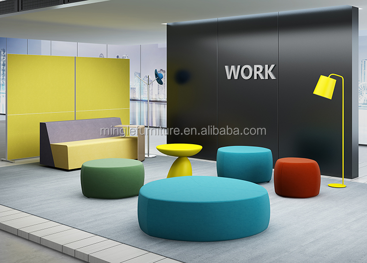 Color optional Simple and modern modular sofa in public places