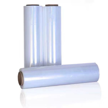 China pe transparent stretch film hand wrapping foil