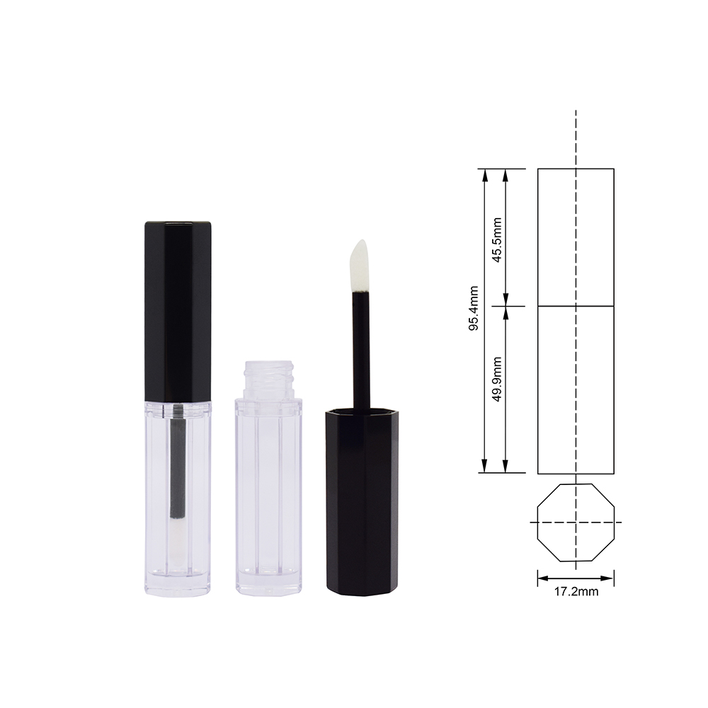 Wholesale special design 5ml lipgloss wand tube private label unique shape custom empty <a href=http:// target=_blank class=infotextkey>lip gloss tube</a> with brush