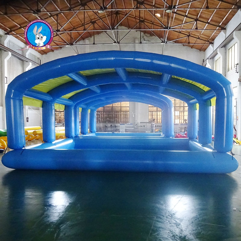 Attractive large inflatable swimming pool covers deep sea pool for kids