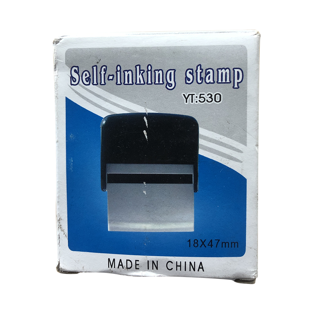 Hot sale red green black self-inking stamp can support custom logo