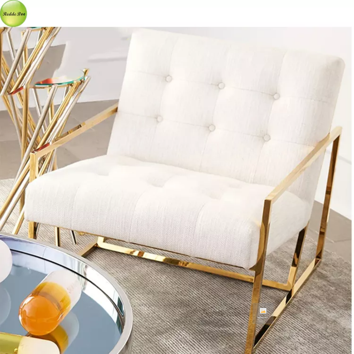 Modern Hotel Bedroom Furniture White Chairs For Weddings,Gold