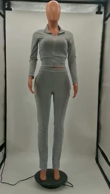 Высококачественный однотонный топ и штаны, женский спортивный комплект из двух предметов, женская одежда, наряды 2020