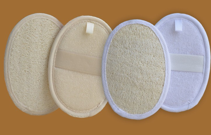 wholesale Natural loofah bath scrubber pad cleaning pad