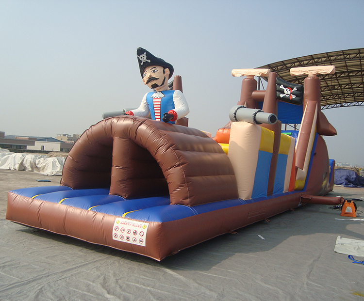 High Quality Playground Fun Team Building Game Inflatable Pirate Races Inflatable Obstacle Course For Sale