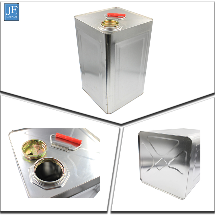 20L Square paint oil silver metal tin can