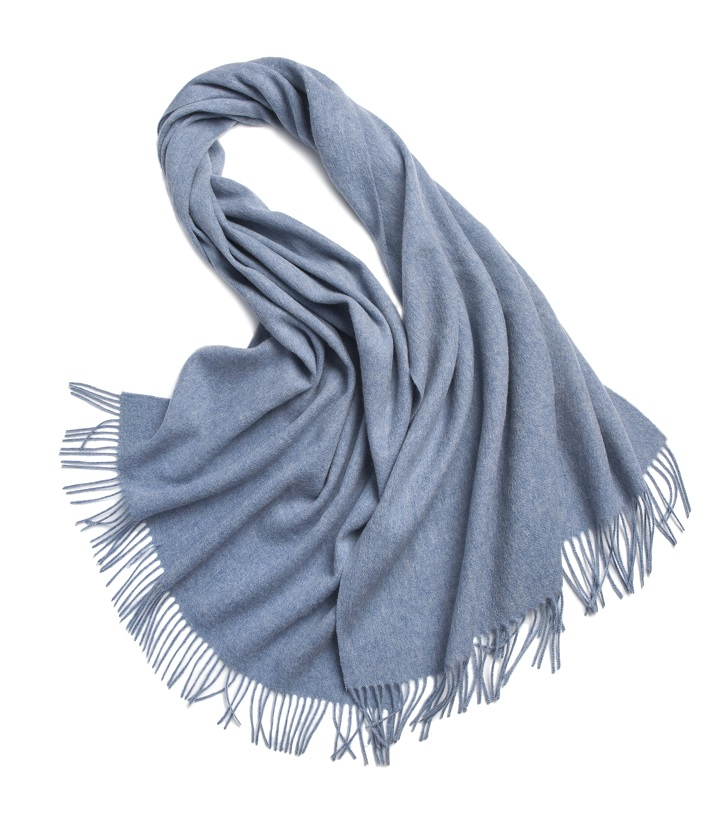 Tassel large solid color <strong>Merino</strong> women <strong>wool</strong> <strong>scarf</strong>