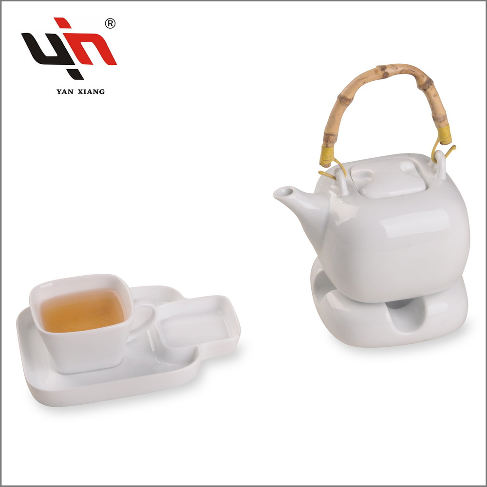 White Ceramic tea set Gift Tea Cup Set Good price Yanxiang porcelain