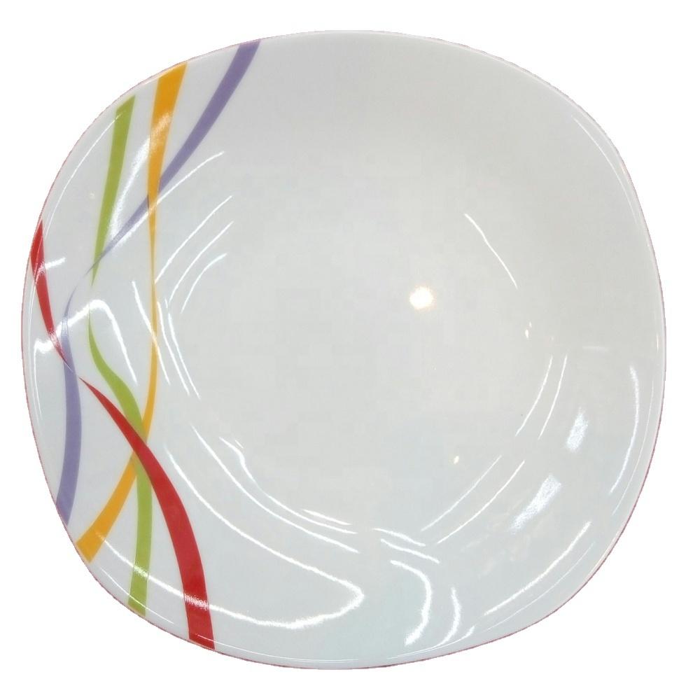 9 дюймовые квадратные керамические фарфоровые тарелки для супа