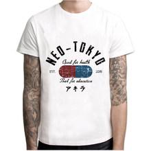 Мужская Винтажная Футболка Neo Tokyo Street Race, черно-белая вечерняя футболка с коротким рукавом, в японском стиле, для езды на мотоцикле(Китай)