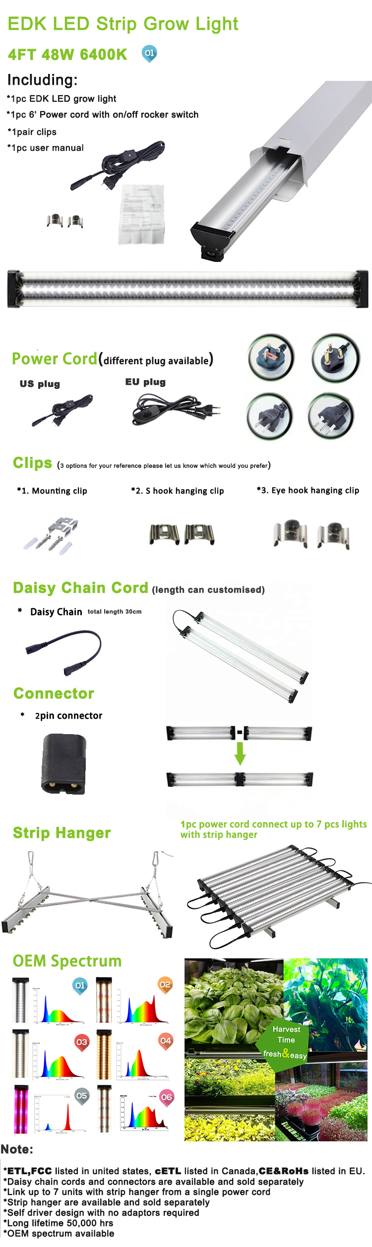 new products 48W Full Spectrum hydroponics LED grow light for indoor plants veg & bloom Fruit