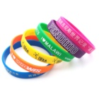 Personalized Thin Rubber Glow In Dark Custom Logo Bangle Wrist Band Wristband Silicone En Bracelet For Man Baby