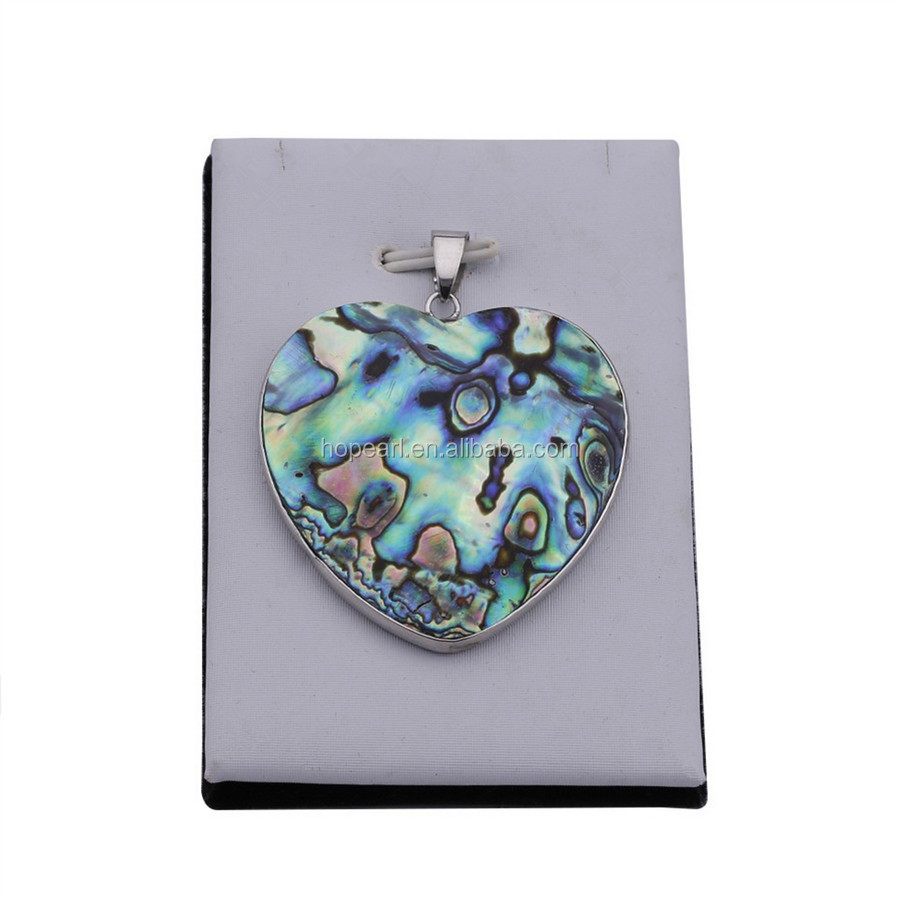 MOP192 Abalone the ear of Sea Heart Cabochons Abalone Shell Pendant