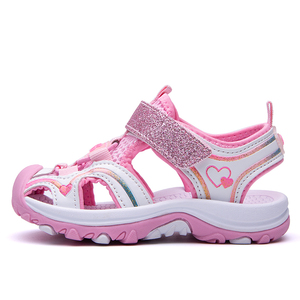 2019 Kids Sandals Closed-Toe Outdoor Sport Sandals Summer Breathable Leather Water Sandals for Girls