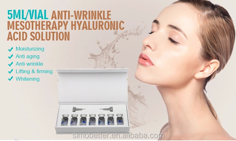 Facial whitening injectable 5ml HA hyaluronic acid mesotherapy serum meso solution