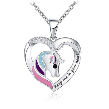 Unicorn Jewelry 925 Sterling Silver Unicorn Necklace Fairytale Gifts for Girls Kids