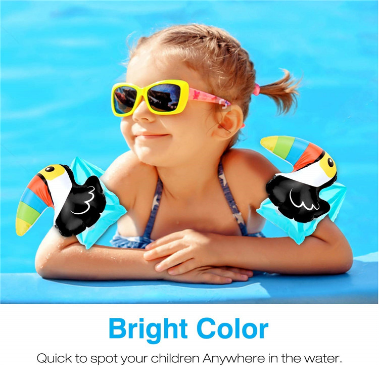 MoKo Cartoon PVC Swimming Armbands Inflatable Swim Floater Sleeves for Kids for Learning