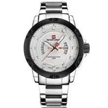 Мужские часы Топ люксовый бренд NAVIFORCE, мужские полностью стальные часы, кварцевые часы, аналоговые водонепроницаемые спортивные армейские ...(China)