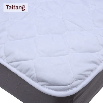 Hotel Bedroom Linen Supplier Customized Adult White Cotton King Size Mattress Protector