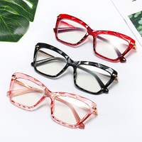 Popular Women Crystals Transparent Optical Glasses Frames Brand Clear Diamond Cut Spectacles Eyeglasses Frames