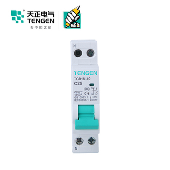 high quality 1Pole mcb of TGB1NLE-40 1P+N C16 residual current device 50mA best brand circuit breaker 16a
