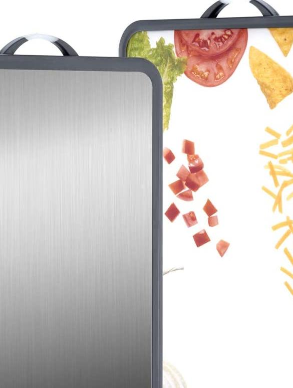 2021 트렌드 다기능 주방 스테인레스 스틸 금속 고기 PE 커팅 보드 정육점 블록 음식 준비