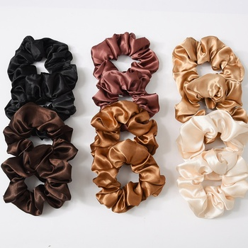 Cheap color mixed  Elastic Velvet Hair Scrunchies for women