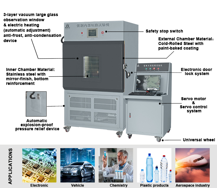 Temperature Control Internal Lithium Ion Battery Short Circuit Test Machine