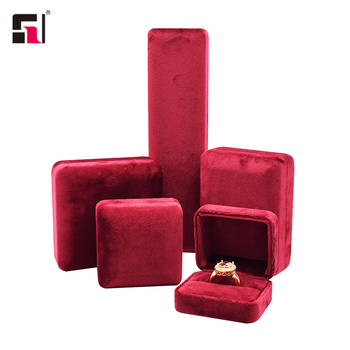 OEM custom logo and size luxury velvet red jewelry bangle bracelet gift boxes