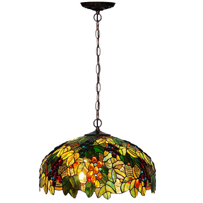 Wholesale European Style Tiffany Lamps Bedside Indoor Antique Tiffany Ceiling light Stained Glass Chandelier for Home Decor