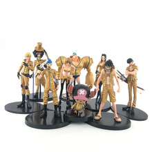 RH-C83 Oro <span class=keywords><strong>Anime</strong></span> <span class=keywords><strong>One</strong></span> <span class=keywords><strong>Piece</strong></span> pop Excellent Model Anniversario Ritratto di Pirati Dracule Mihawk PVC Action Figures 9pcs