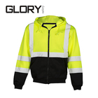 High Visibility Reflective Safety Stripes Fleece Hoodie