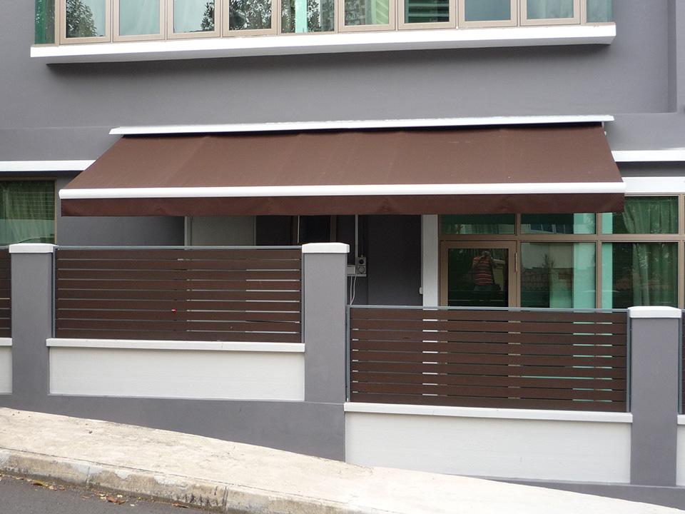 Used Motorized A05 Aluminum Balcony Sunshade Retractable ...