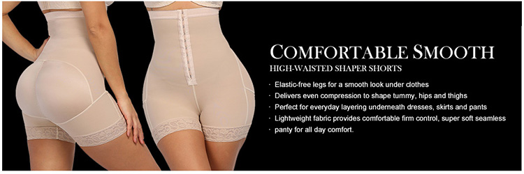 Latest Design Compression Adjustable Hooks High Waist Tummy Control Butt Lifter Shapewear For Women