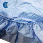 Sterilized SS Blue Film Disposable Bed Cover sheet with good absorbency and elastic on a circle