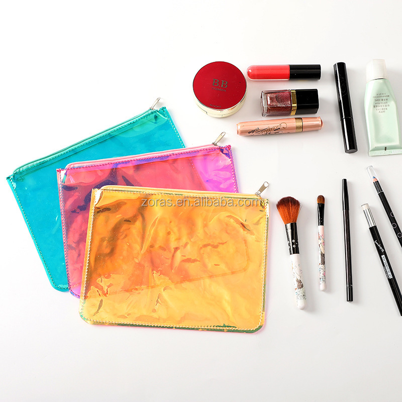 Waterproof Dry Portable Clear Pvc Cosmetic Zip Bag Travel Packaging Bag