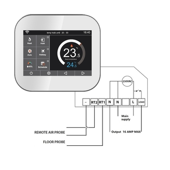geo thermostat wiring diagram high quality smart heating thermostat  view smart thermostat  high quality smart heating thermostat