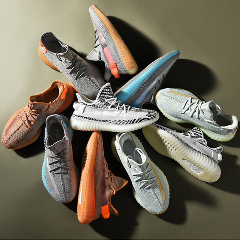 Stylish Breathable Knit Reflective Upper Sports Shoes with -E-TPU Sole and 350 V2