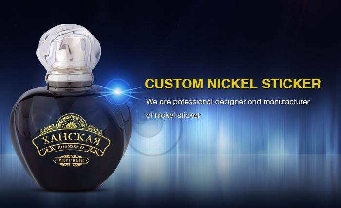 Étiquettes autocollantes entièrement en Nickel, modèles de logo, métalliques, pour équipement