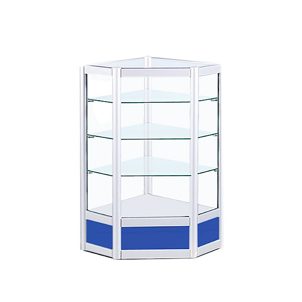 factory price gondola glass wall display  shelves thickness Cheap Price wisda display